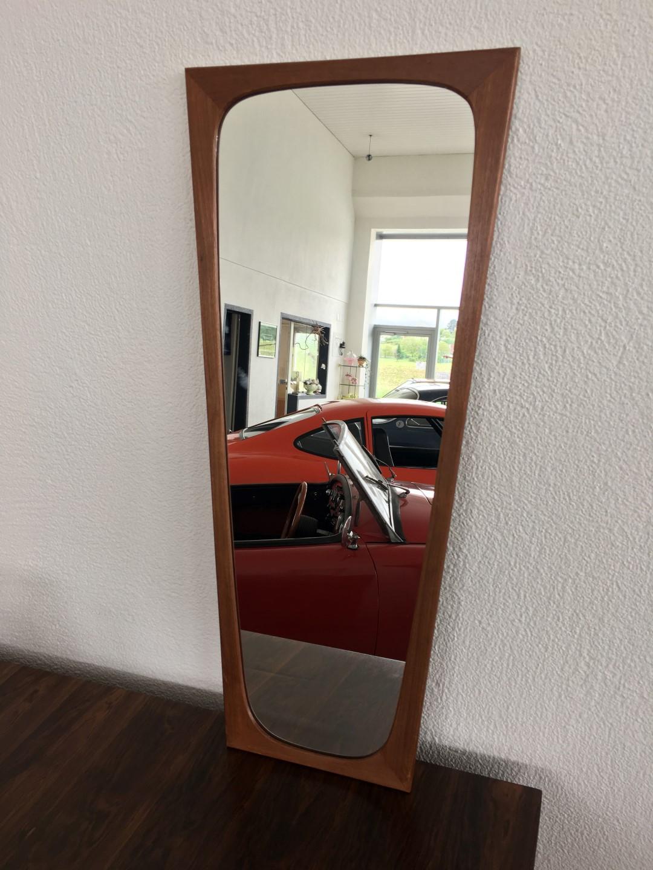 Teak wandspiegel spiegel danish design - Wandspiegel design ...