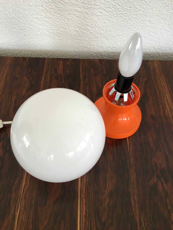 vintage tischlampe orange 70er jahre. Black Bedroom Furniture Sets. Home Design Ideas