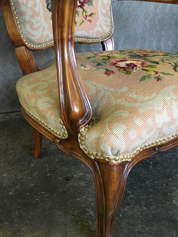 antike gobelin sessel louis philippe. Black Bedroom Furniture Sets. Home Design Ideas