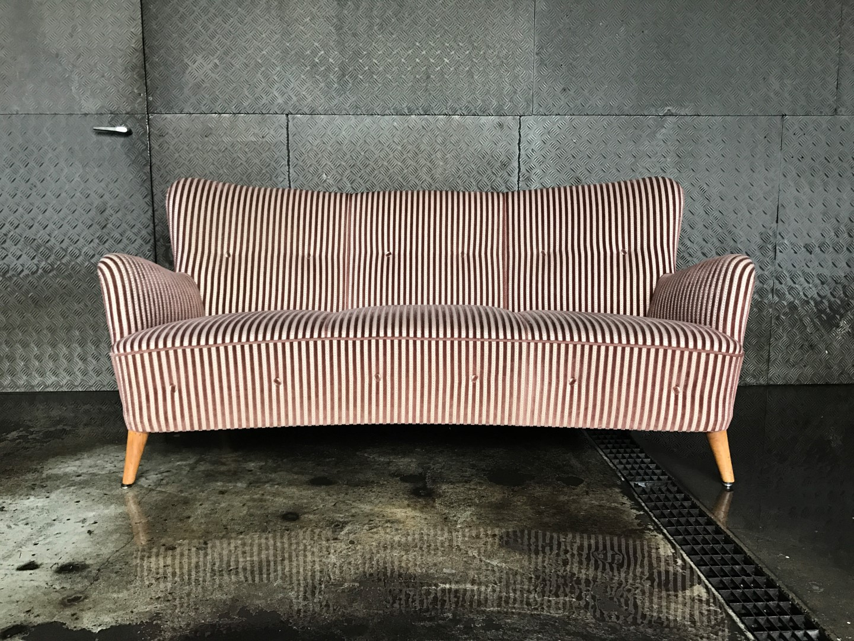 vintage 3er sofa 50er jahre midcentury. Black Bedroom Furniture Sets. Home Design Ideas
