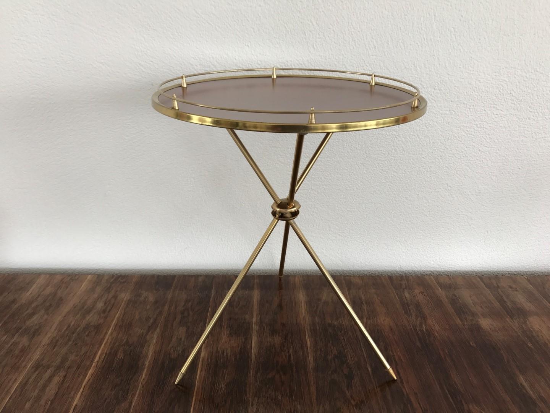 vintage beistelltisch messing 60er 70er. Black Bedroom Furniture Sets. Home Design Ideas
