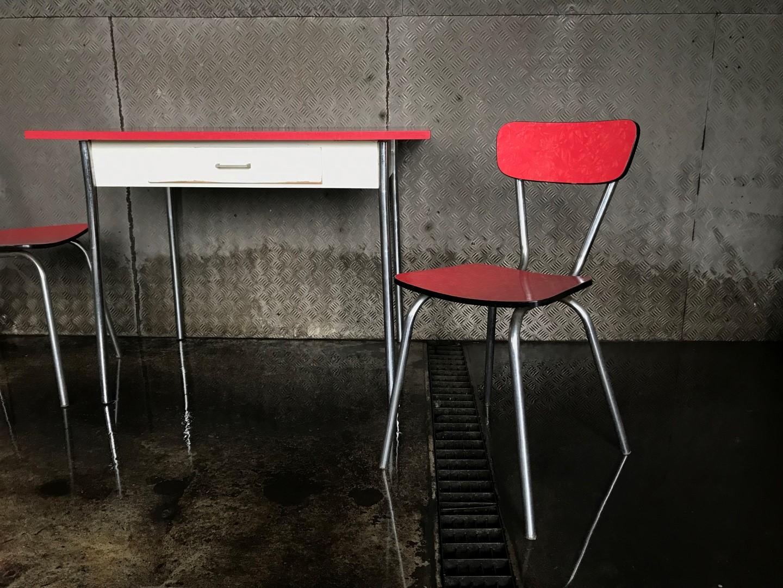 vintage k chentisch 50er jahre. Black Bedroom Furniture Sets. Home Design Ideas