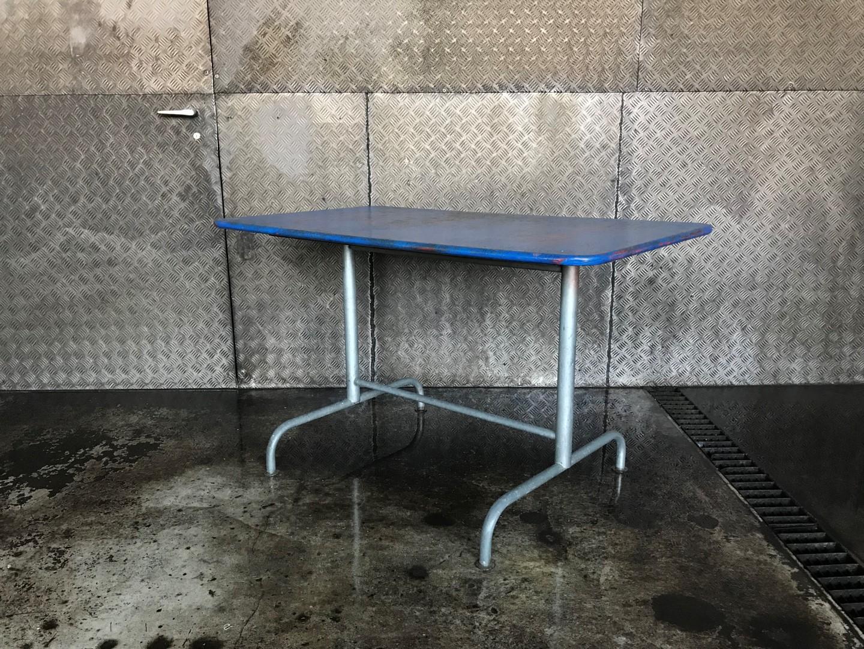 Vintage Gartentisch Klappbar Bigla Blau Frauflufelberg Ch